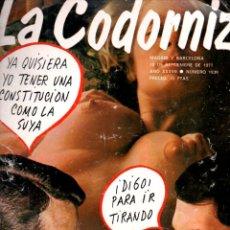 Coleccionismo de Revistas y Periódicos: LA CODORNIZ Nº 1839 - 18 IX 1977 FELIPE GONZÁLEZ Y ADOLFO SUÁREZ. Lote 178933535