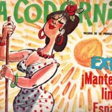 Coleccionismo de Revistas y Periódicos: LA CODORNIZ Nº 1257 - 19 XII 1965 EXTRA MANTENGA LIMPIA ESPAÑA. Lote 178934035