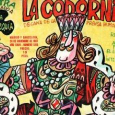 Coleccionismo de Revistas y Periódicos: LA CODORNIZ Nº 1362 - 24 XII 1967 EXTRA MONARQUÍA. Lote 178934366