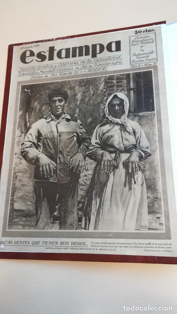 LOTE REVISTAS ESTAMPA AÑO 1928 A 1935 (Coleccionismo - Revistas y Periódicos Antiguos (hasta 1.939))
