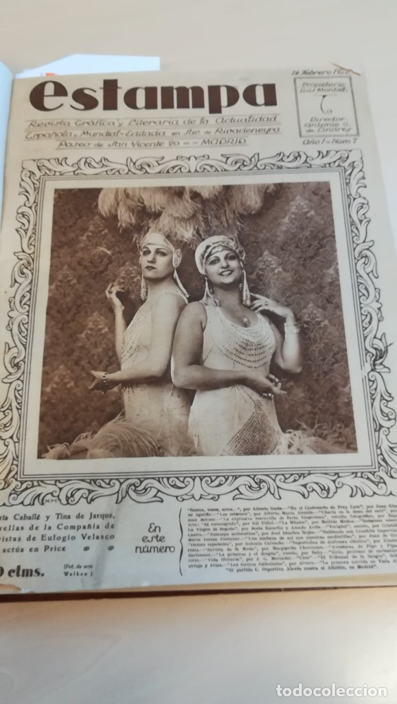 Coleccionismo de Revistas y Periódicos: LOTE REVISTAS ESTAMPA AÑO 1928 A 1935 - Foto 2 - 178968270