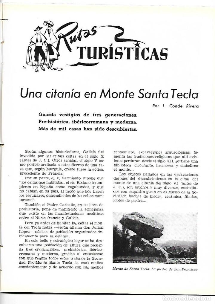 AÑO 1954 MONTE SANTA TECLA GALICIA CONCURSO COCINA BARCELONA RESTAURANTE ROSALEDA HOTEL MADRID RITZ (Coleccionismo - Revistas y Periódicos Modernos (a partir de 1.940) - Otros)