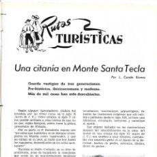 Coleccionismo de Revistas y Periódicos: AÑO 1954 MONTE SANTA TECLA GALICIA CONCURSO COCINA BARCELONA RESTAURANTE ROSALEDA HOTEL MADRID RITZ. Lote 178970360