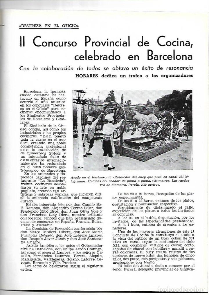 Coleccionismo de Revistas y Periódicos: AÑO 1954 MONTE SANTA TECLA GALICIA CONCURSO COCINA BARCELONA RESTAURANTE ROSALEDA HOTEL MADRID RITZ - Foto 3 - 178970360
