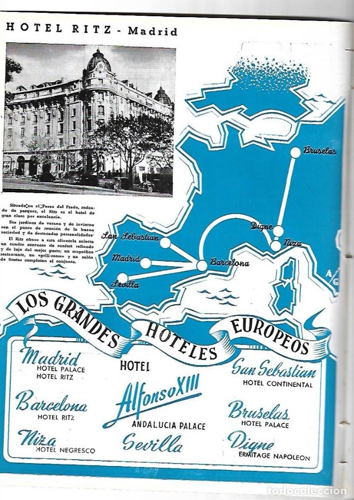 Coleccionismo de Revistas y Periódicos: AÑO 1954 MONTE SANTA TECLA GALICIA CONCURSO COCINA BARCELONA RESTAURANTE ROSALEDA HOTEL MADRID RITZ - Foto 5 - 178970360