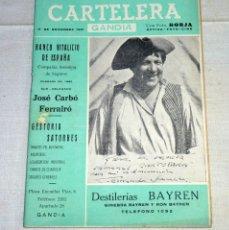 Coleccionismo de Revistas y Periódicos: REVISTA CARTELERA GANDIA.AÑO 1961.. Lote 178981705