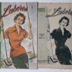 Coleccionismo de Revistas y Periódicos: LABORES. SUPLEMENTO MENSUAL DE VOSOTRAS. FEBRERO DE 1949. DOS SECCIONES.. Lote 178984552