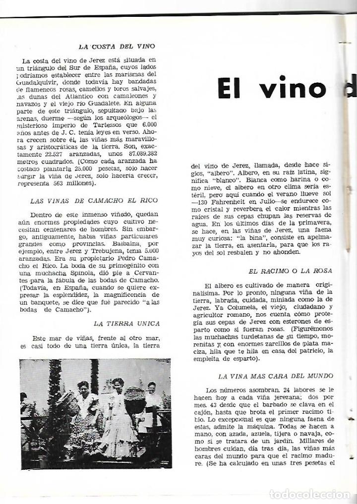 AÑO 1954 WASHINGTON IRVING EL VINO DE JEREZ CARTEL FERIA ALVAREZ GAMEZ FINO LA INA AGUA LANJARON (Coleccionismo - Revistas y Periódicos Modernos (a partir de 1.940) - Otros)