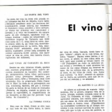 Coleccionismo de Revistas y Periódicos: AÑO 1954 WASHINGTON IRVING EL VINO DE JEREZ CARTEL FERIA ALVAREZ GAMEZ FINO LA INA AGUA LANJARON . Lote 178986452