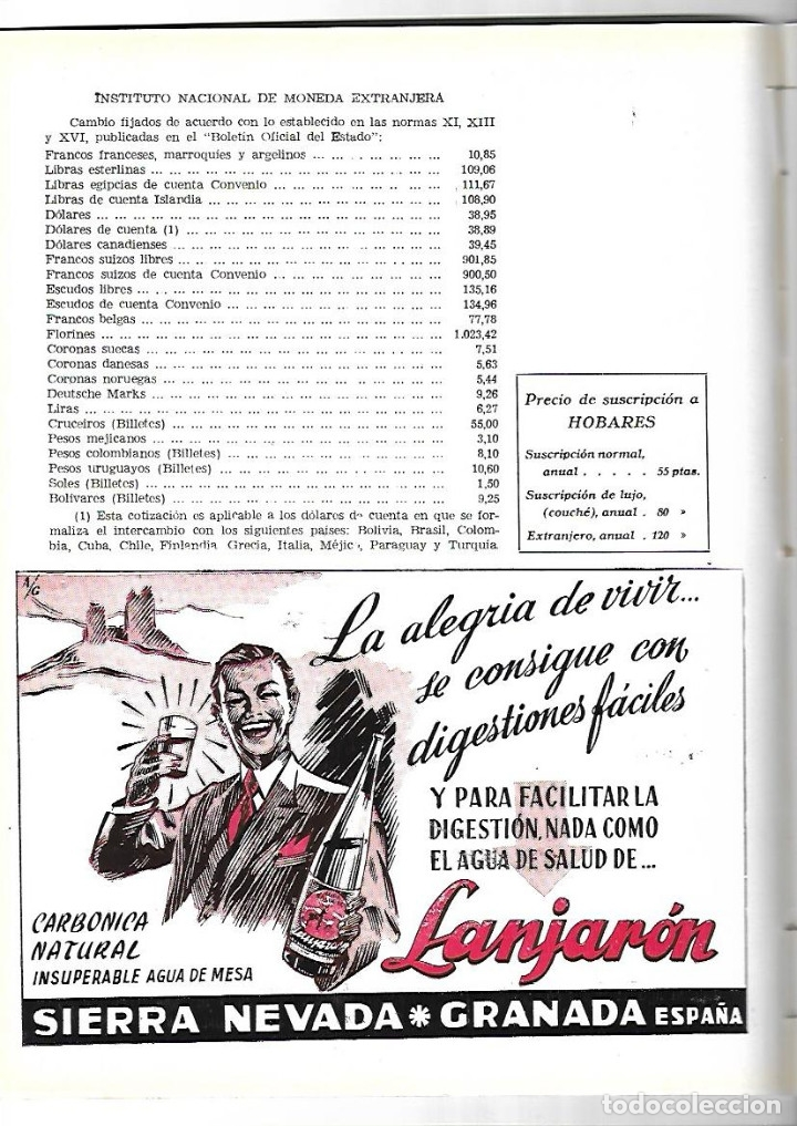 Coleccionismo de Revistas y Periódicos: AÑO 1954 WASHINGTON IRVING EL VINO DE JEREZ CARTEL FERIA ALVAREZ GAMEZ FINO LA INA AGUA LANJARON - Foto 3 - 178986452