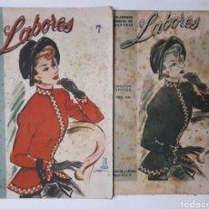 Coleccionismo de Revistas y Periódicos: LABORES. SUPLEMENTO MENSUAL DE VOSOTRAS. ABRIL 1949. DOS SECCIONES.. Lote 178987437