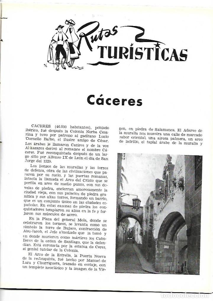 AÑO 1954 CACERES CIUDAD MONUMENTAL HOTEL ALFONSO XIII SEVILLA PALACE HOTEL MADRID BAUTISTA JAUREGUI (Coleccionismo - Revistas y Periódicos Modernos (a partir de 1.940) - Otros)