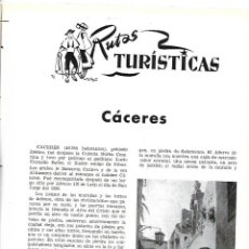 Coleccionismo de Revistas y Periódicos: AÑO 1954 CACERES CIUDAD MONUMENTAL HOTEL ALFONSO XIII SEVILLA PALACE HOTEL MADRID BAUTISTA JAUREGUI . Lote 178987618