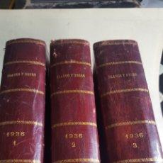 Coleccionismo de Revistas y Periódicos: BLANCO Y NEGRO 1936 DEL 2321 AL 2348 ÚLTIMO PUBLICADO POR COMIENZO DE LA GUERRA CIVIL. FALTAN 5. Lote 179007401