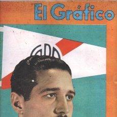 Coleccionismo de Revistas y Periódicos: 1941 EL GRAFICO # 1121 JOSE RAMOS RIVER PLATE FANGIO ALLAN COBHAM BOX EEUU NACIONAL VS BOCA JUNIORS. Lote 179018057