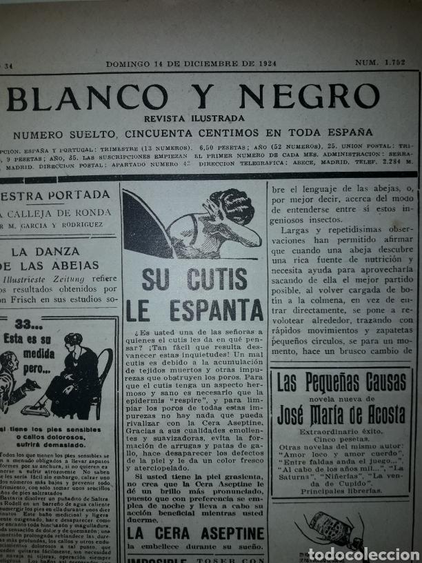 Coleccionismo de Revistas y Periódicos: Revista ilustrada de 1924 blanco y negro - Foto 2 - 179033537