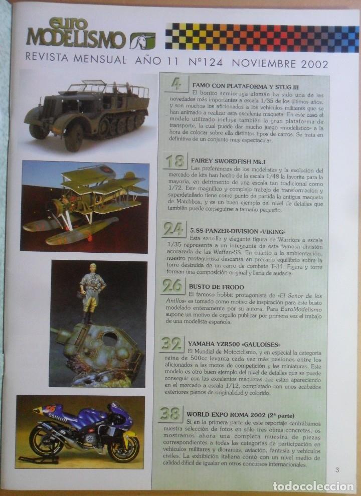 Coleccionismo de Revistas y Periódicos: Nº 124 - EURO MODELISMO - ACCION PRESS - NOVIEMBRE - 2002 - Foto 2 - 179035585