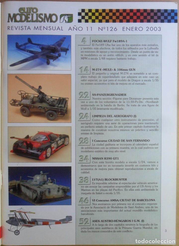 Coleccionismo de Revistas y Periódicos: Nº 126 - EURO MODELISMO - ACCION PRESS - ENERO - 2003 - Foto 2 - 179036090