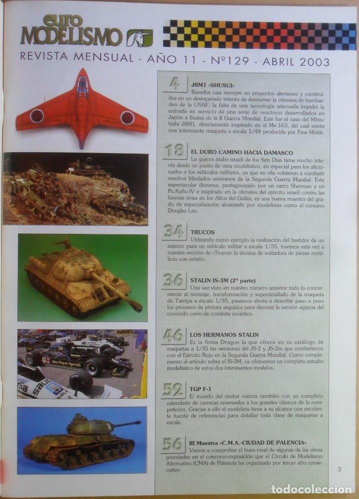 Coleccionismo de Revistas y Periódicos: Nº 129 - EURO MODELISMO - ACCION PRESS - ABRIL - 2003 - Foto 2 - 179036158