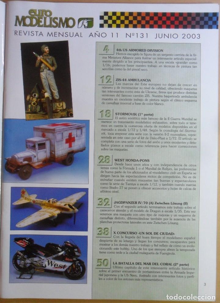 Coleccionismo de Revistas y Periódicos: Nº 131 - EURO MODELISMO - ACCION PRESS - JUNIO - 2003 - Foto 2 - 179036378