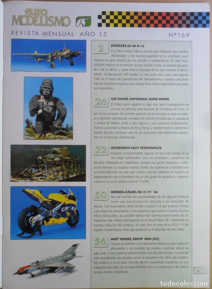 Coleccionismo de Revistas y Periódicos: Nº 169 - EURO MODELISMO - ACCION PRESS - Foto 2 - 179036618