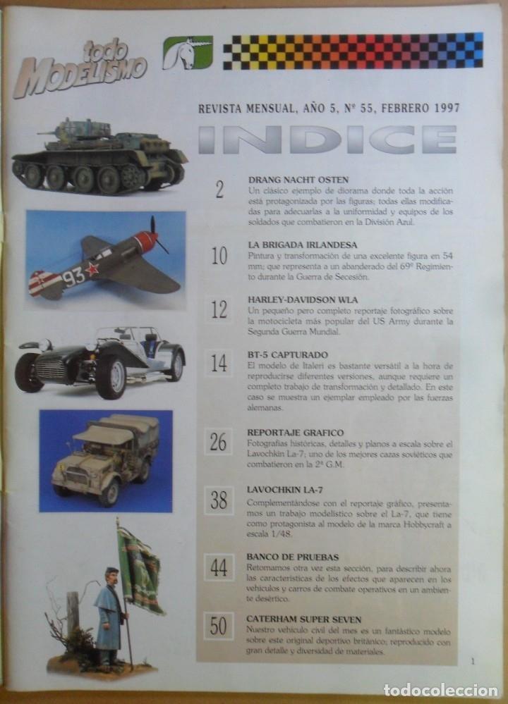 Coleccionismo de Revistas y Periódicos: Nº 55 - TODO MODELISMO - ACCION PRESS - FEBRERO - 1997 - Foto 2 - 179036853
