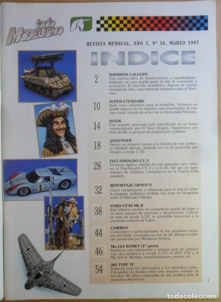 Coleccionismo de Revistas y Periódicos: Nº 56 - TODO MODELISMO - ACCION PRESS - MARZO - 1997 - Foto 2 - 179036936