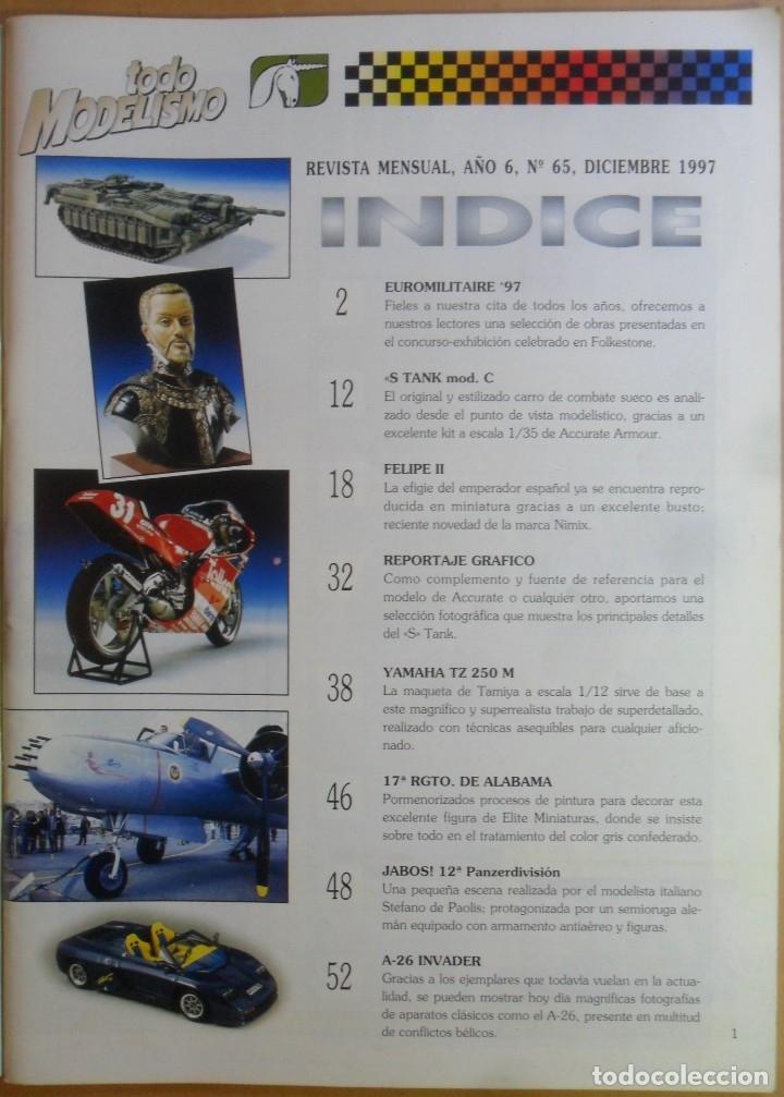 Coleccionismo de Revistas y Periódicos: Nº 65 - TODO MODELISMO - ACCION PRESS - DICIEMBRE - 1997 - Foto 2 - 179037036