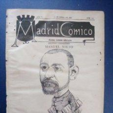 Coleccionismo de Revistas y Periódicos: MADRID CÓMICO 23-ENE-1886 Nº 153 - AÑO VI - PORTADA : MANUEL NIETO ( COMPOSITOR ).. Lote 179079190