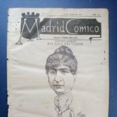 Coleccionismo de Revistas y Periódicos: MADRID CÓMICO 16-ENE-1886 Nº 152 - AÑO VI - PORTADA : BALBINA VALVERDE ( ACTRIZ ).. Lote 179079368