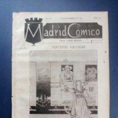 Coleccionismo de Revistas y Periódicos: MADRID CÓMICO - LUGO (APUNTES DE VIAJE ) 26-NOV-1887 Nº 249 - AÑO VII - PORTADA : FANTASIAS GALLEGAS. Lote 179081030