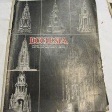 Coleccionismo de Revistas y Periódicos: ECCLESIA. MADRID. SABADO 24 MAYO 1952. AÑO XII, NÚM. 567. 27,5 X 21,5 CM. Lote 179084367
