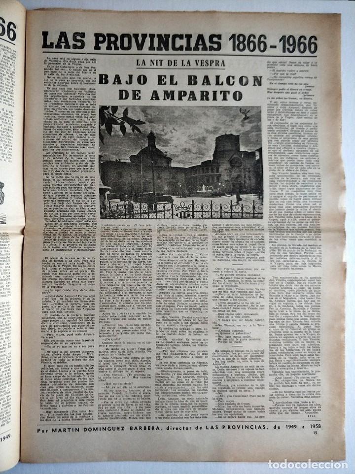 Coleccionismo de Revistas y Periódicos: Especial periodico Valenciano Las Provincias cumple 100 años - 1866 - 1966 - Foto 6 - 179101691