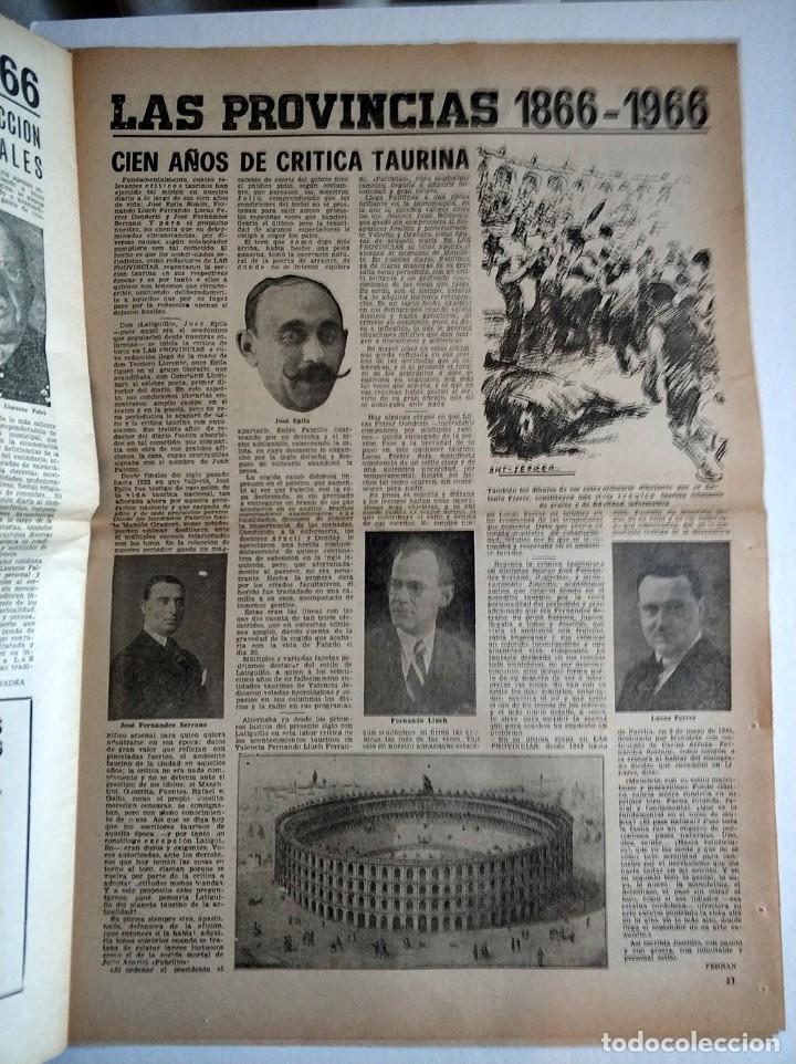 Coleccionismo de Revistas y Periódicos: Especial periodico Valenciano Las Provincias cumple 100 años - 1866 - 1966 - Foto 7 - 179101691