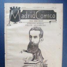 Coleccionismo de Revistas y Periódicos: MADRID CÓMICO - OVIEDO (APUNTES DE VIAJE) 20-AGO-1887 Nº235 - AÑO VII - PORTADA : FÉLIX ARAMBURU. Lote 179108245