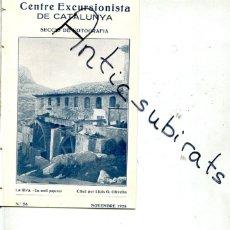 Coleccionismo de Revistas y Periódicos: REVISTA AÑO 1928 LA RIVA RIBA MOLINO PAPELERO MOLI PAPERER . Lote 179109863