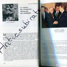 Coleccionismo de Revistas y Periódicos: REVISTA PYRENEES AÑO 1987 VISITA DEL COPRICIPE FRANCES A ANDORRA MITTERRAND CONSOL D' ORDINO . Lote 179110501
