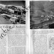 Coleccionismo de Revistas y Periódicos: REVISTA INGLESA AÑO 1942 REPORTAJE SOBRE ANDORRA . Lote 179110672
