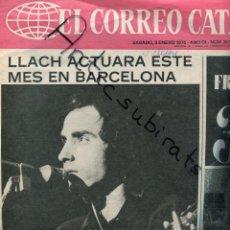 Coleccionismo de Revistas y Periódicos: PORTADA SULETA DEL CORREO CATALAN LLUIS LLACH NO PUEDE CANTAR EN ANDORRA ENERO 1976 . Lote 179110988