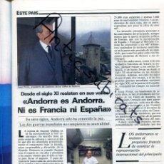 Coleccionismo de Revistas y Periódicos: REVISTA AÑO 1985 ANDORRA JOSEP PINTAT EDUARD PUNSET MINISTRO COMO COMPRAR UN ORDENADOR EN ESPAÑA. Lote 179112613