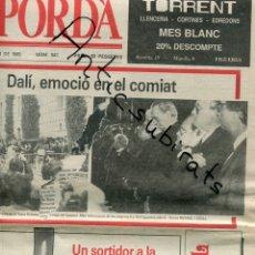 Coleccionismo de Revistas y Periódicos: PERIODICO AÑO 1989 EMPORDA MUERTE DE SALVADOR DALI SU HERENCIA CASTELLÓ AUGÉ CARNAVAL DE ROSES ROSAS. Lote 179113033