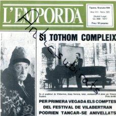 Coleccionismo de Revistas y Periódicos: REVISTA AÑO 1984 SALVADOR DALI CON BARRETINA EN PORTADA JOSEP CARRERAS EN VILABERTRAN . Lote 179114548