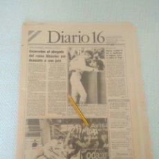 Coleccionismo de Revistas y Periódicos: DIARIO 16 ANDALUCÍA AÑO XII-N.3582. 4 DE MAYO 1987. EL SEVILLA GOLEADO POR EL BETIS. ESPARTACO FERIA. Lote 179116516