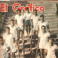 Coleccionismo de Revistas y Periódicos: 1950 EL GRAFICO # 1598 JUAN M. FANGIO ALFREDO PIAN OSCAR Y JUAN GALVEZ BOX CALICCHIO VS RENDICH. Lote 179118536
