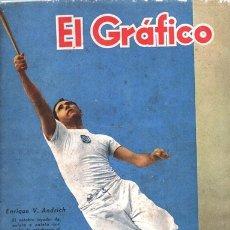 Coleccionismo de Revistas y Periódicos: 1942 EL GRAFICO # 1173 ENRIQUE ANDRICH FUTBOL SUDAMERICANO DE URUGUAY LUDOVICO BIDOGLIO RAUL ROUX. Lote 179120597