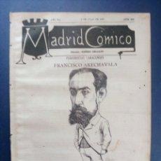 Coleccionismo de Revistas y Periódicos: MADRID CÓMICO - GUADALAJARA (APUNTES DE VIAJE) 9-JUL-1887 Nº229-AÑO VII- PORTADA : FCO. ARECHAVALA. Lote 179121810