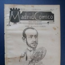 Coleccionismo de Revistas y Periódicos: MADRID CÓMICO - MÁLAGA (APUNTES DE VIAJE) 16-ABR-1887 Nº217 -AÑO VII- PORTADA : JOSÉ BLANCO CORIS . Lote 179123592