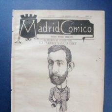 Coleccionismo de Revistas y Periódicos: MADRID CÓMICO - CIUDAD REAL (APUNTES DE VIAJE) 5-FEB-1887 Nº207 -AÑO VII- PORTADA : CEFERINO SAUCO . Lote 179125963