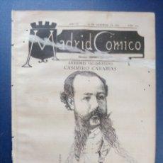 Coleccionismo de Revistas y Periódicos: MADRID CÓMICO - VALLADOLID (APUNTES DE VIAJE) 25-DIC-1886 Nº201-AÑO VI- PORTADA : CASIMIRO CARABIAS . Lote 179127738