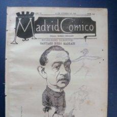 Coleccionismo de Revistas y Periódicos: MADRID CÓMICO - SALAMANCA (APUNTES DE VIAJE) 30-OCT-1886 Nº193 -AÑO VI- PORTADA : SANTIAGO DIEGO M. . Lote 179133080